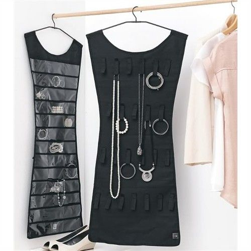 Tube Mini Dress Corset Jewellery Organizer Black Colour011938