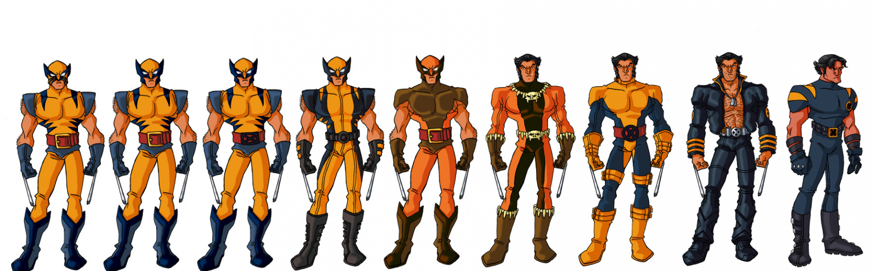 Character Model Wolverine Costumes X Men Evolution Wolverine Costume Costume Evolution Marvel Costumes