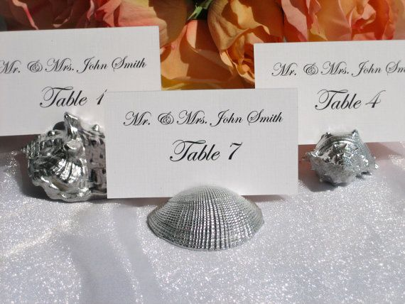 Find This Pin And More On Escort Cards Boards Ideas Place Card Holders Beach Wedding