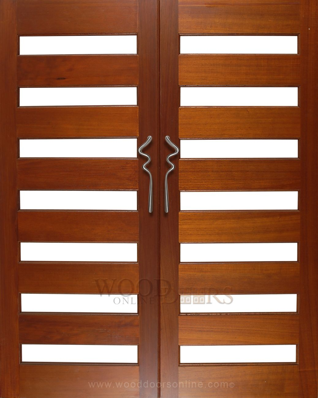 The Aqua front door handle mounted on these double doors is a truly ...