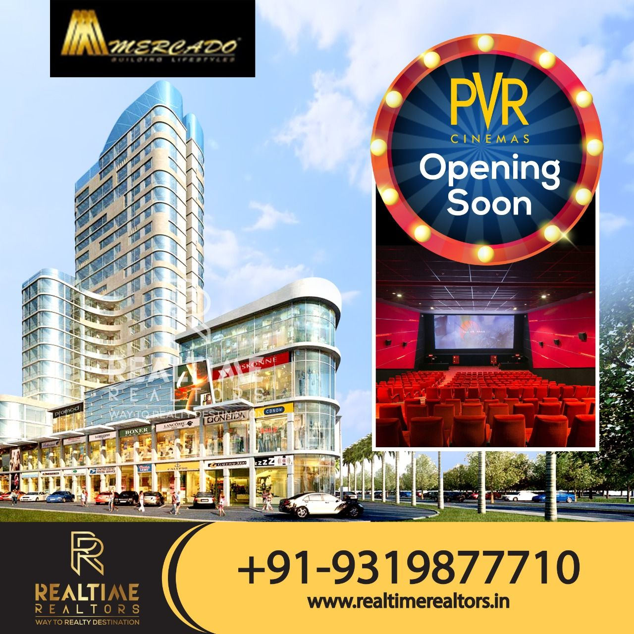 The Ultimate Cinema Experience Pvr Coming Soon To Elan Mercado For More Details 91 9319877710 Real Estate Companies Commercial Property Cinema Experience
