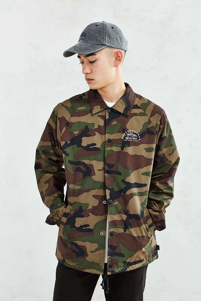d3f8ee87a4153e Vans Torrey Camo Coaches Jacket - Urban Outfitters