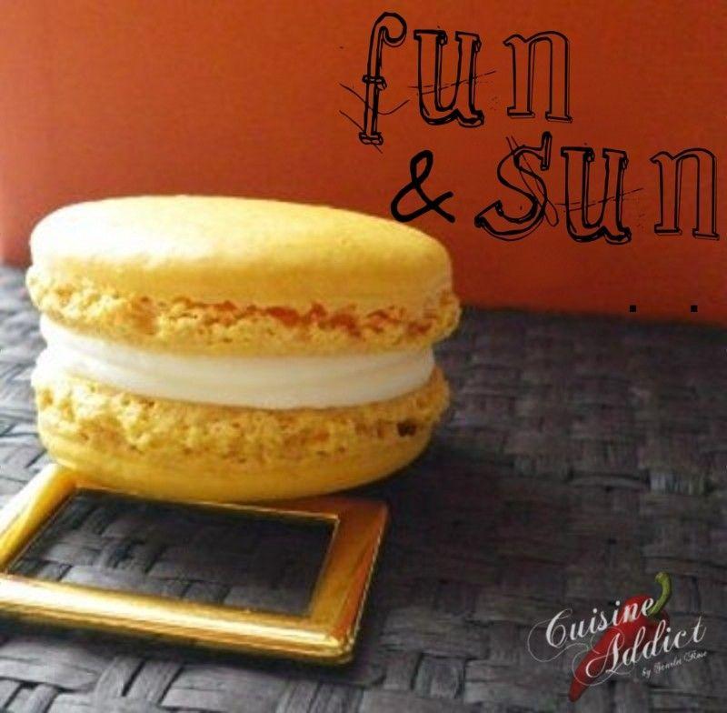 macarons à la banane - cuisine addict - recettes faciles et