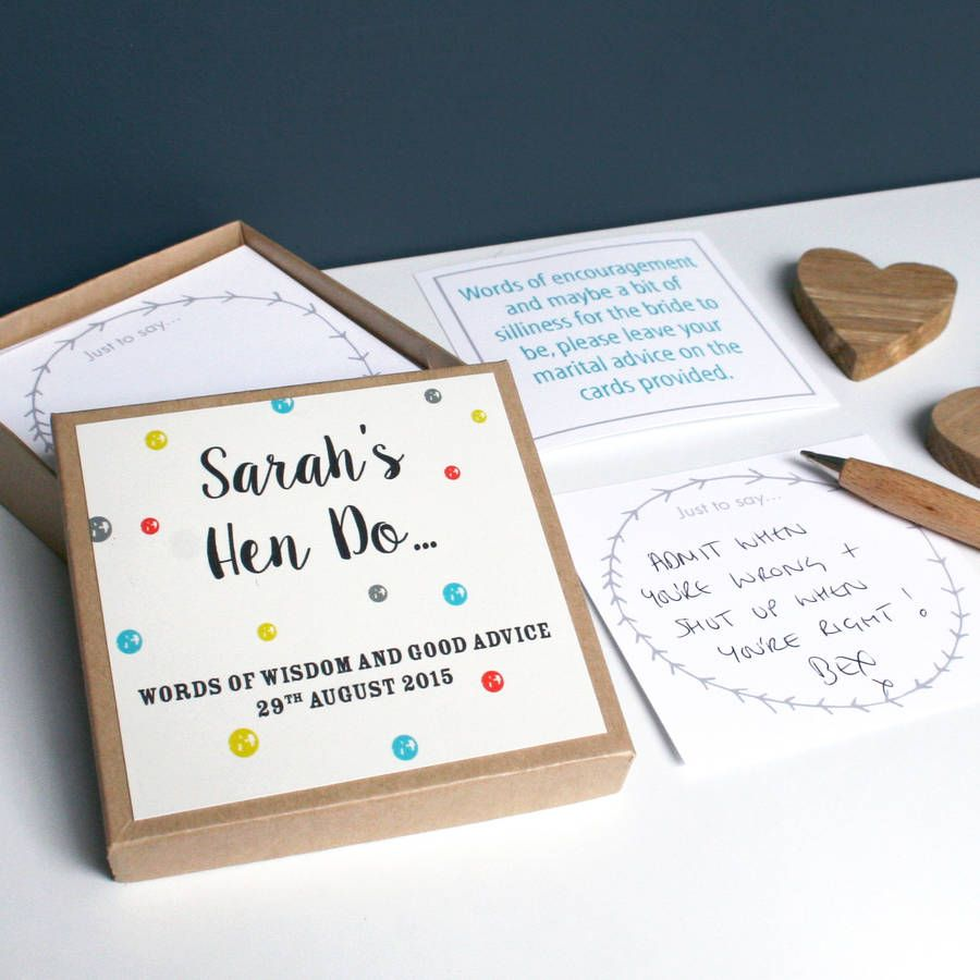 Personalised Hen Party Message Box | Hens