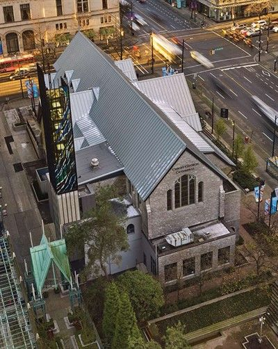 Renovating A Historic Cathedral Rheinzink Protects And Preserves Heritage Of 120 Year Old Church In Vancouver Historic Renovation Renovations Christ Church