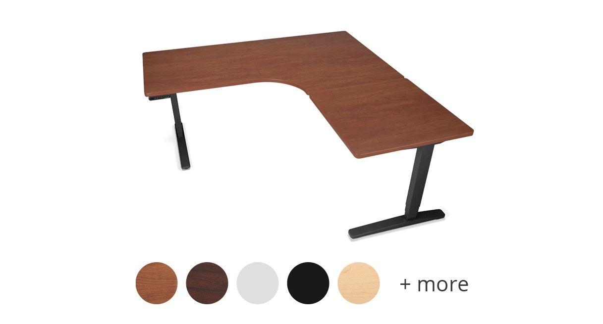 Uplift Custom Laminate L Shaped Standing Desk V2 V2 Commercial Adjustable Height Desk Adjustable Standing Desk Standing Desk