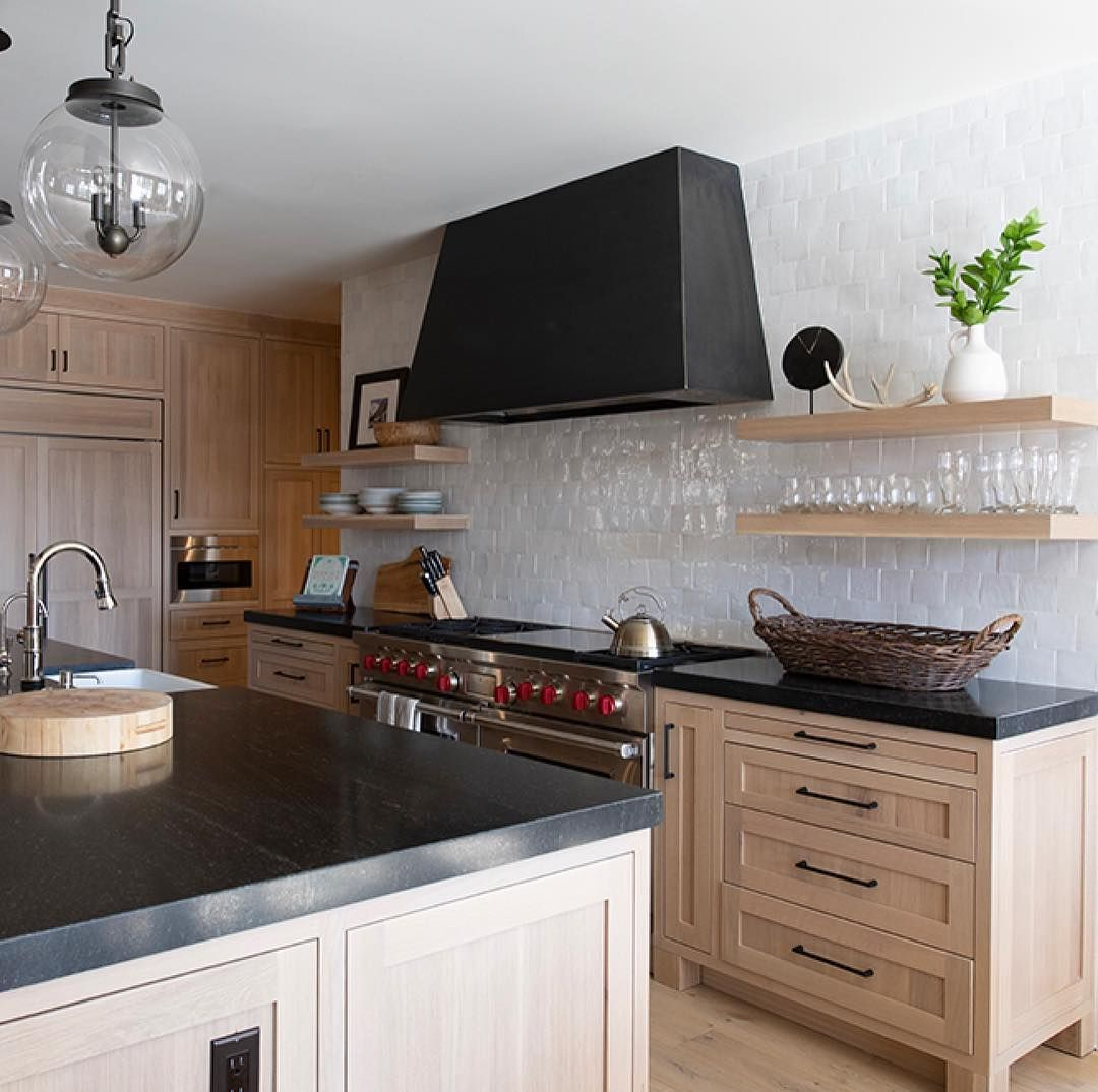 How To Brighten Up A Dark Wood Kitchen Alder Tweed On Instagram Perfect Kitchen And Spot To Cook Brunch We Combined Dark Counters With The Li Light Wood Kitchens Kitchen Dark Counters