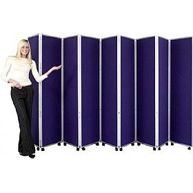 Concertina 9 Panel Mobile Display & Room Dividers | Office furniture ...