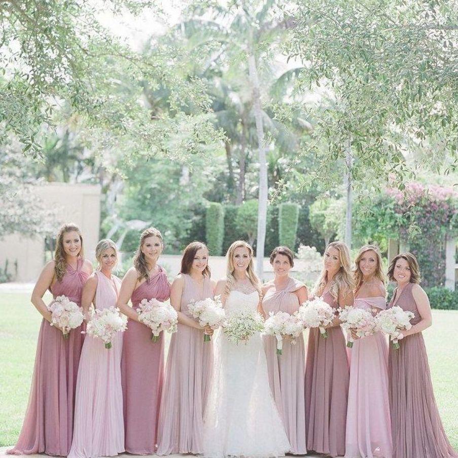 Shades Of Pink For A Wedding Pink Bridesmaid Dresses Blush Pink Color Dress Blush Pi In 2020 Blush Pink Bridesmaid Dresses Pink Bridesmaid Dresses Pink Wedding Dresses