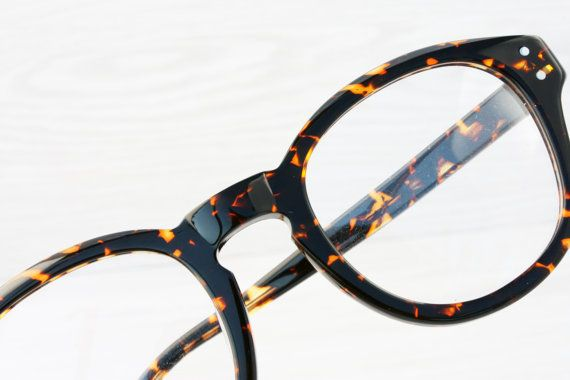 Lifestyle reading glasses Keyhole Bridge Orange Tortoise Eyeglasses by Antiqueelse