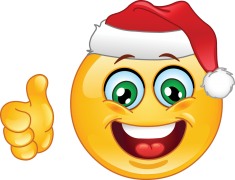 Christmas Emoticon With Thumb Up Emoticons Sticker Funny Emoticons Christmas Emoticons Smiley