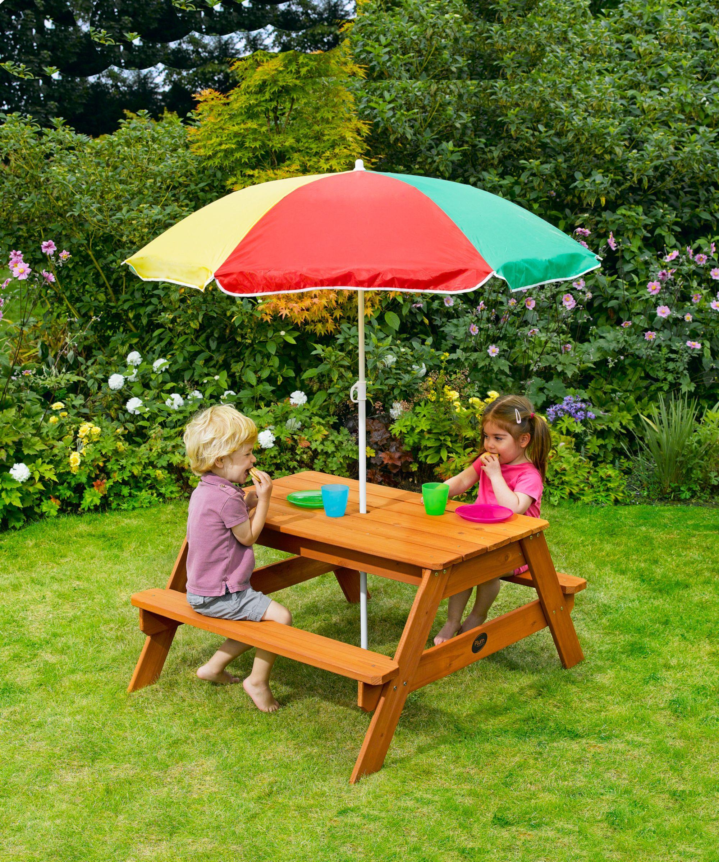 Plum Garden Picnic Table And Parasol Elc 84 99 Kids Picnic