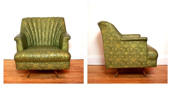 Reserved For Cathryn Hunt Upholstered Green Vinyl Channel