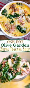 One Pot Olive Garden Zuppa Toscana Soup - Mom On Timeout #zuppatoscanasoup