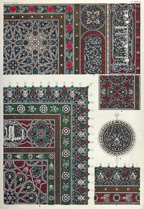 arabian designs. From The grammar of Ornament, by Owen Jones. London, 1868.  Via archive.org.