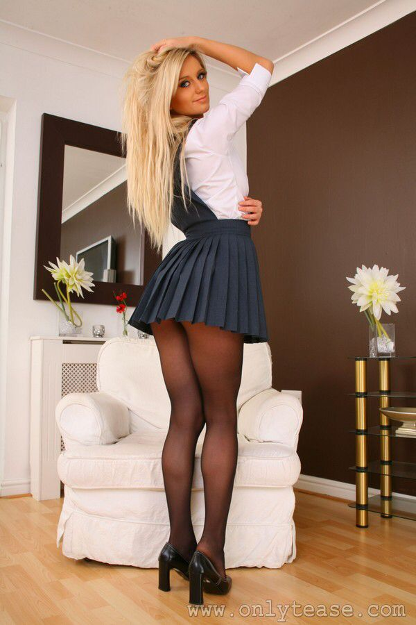 Black Pantyhose  School Girls  Sexy Skirt, Skirts -4432