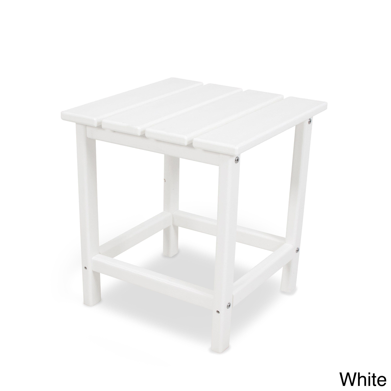 Polywood Long Island 18 Inch Side Table (Aruba), Blue, Patio Furniture