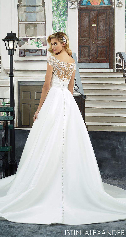 Style this sabrina neckline pleated mikado ball gown embodies