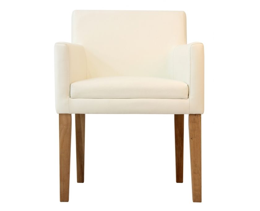 Rasusu Dining Chair White Leather Oak Legs  Dining & Kitchen New White Leather Dining Room Chairs Sale Design Ideas