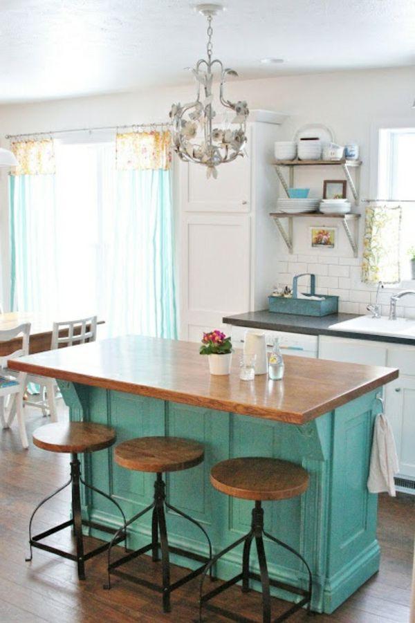 originelle kochinsel mit barst hlen in einer gem tlichen k che k che pinterest gem tliche. Black Bedroom Furniture Sets. Home Design Ideas
