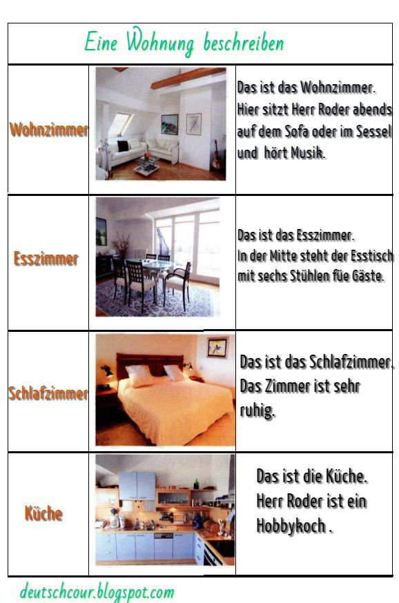 deutsch lernen eine wohnung beschreiben deutsch deutsch lernen deutsch und deutsche. Black Bedroom Furniture Sets. Home Design Ideas