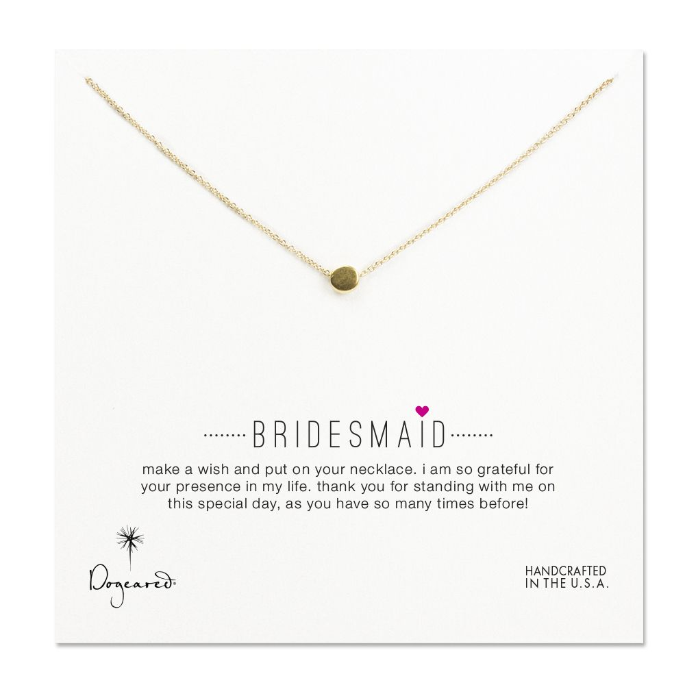 bridesmaid circle necklace necklace, gold dipped, 16 inch - Buy 4, Get 1 FREE! #dogeared #bridal #dogearedbridal #bridesmaid #bridalparty