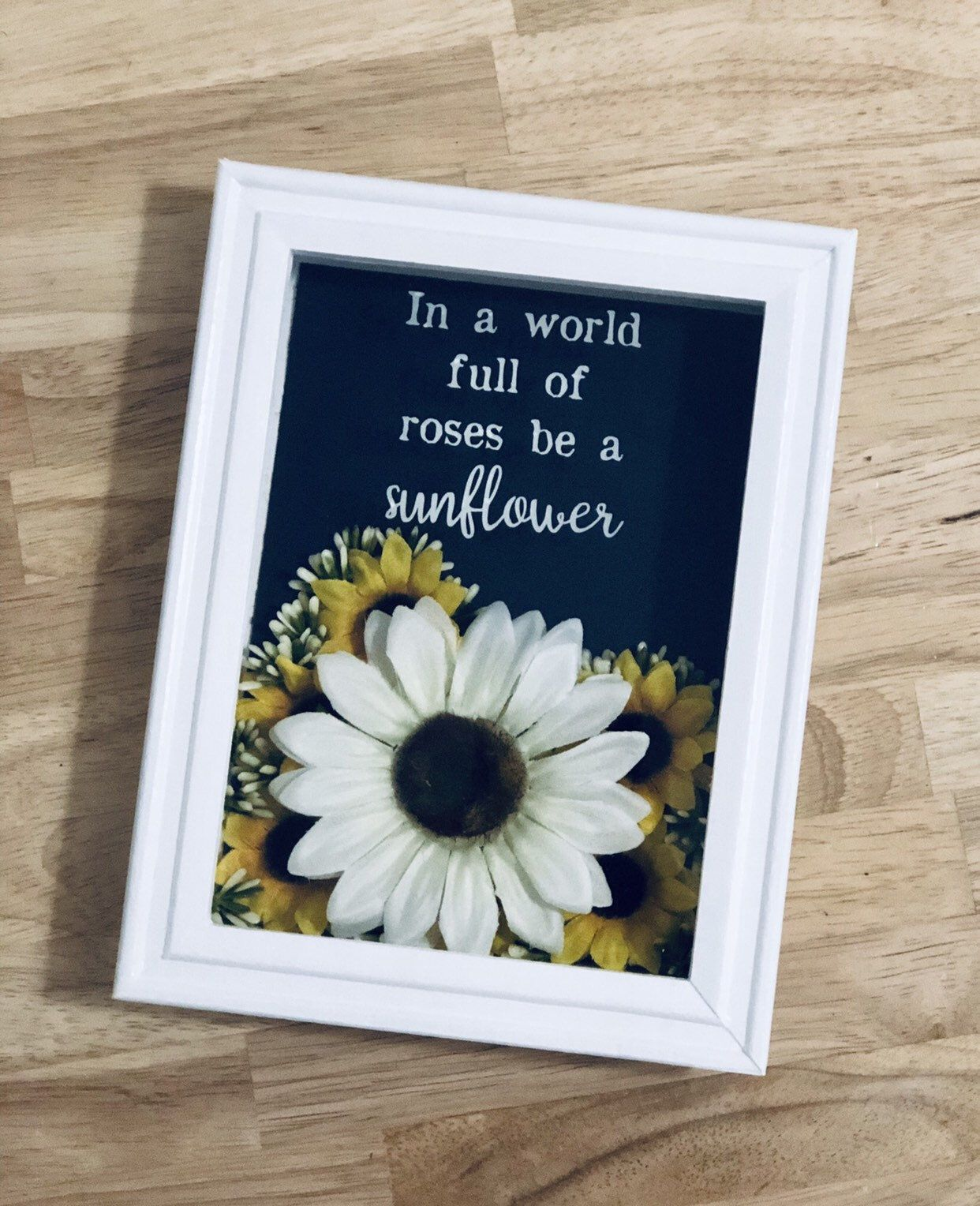 Floral Shadowbox: Home Decor-Wall Decor-Quotes