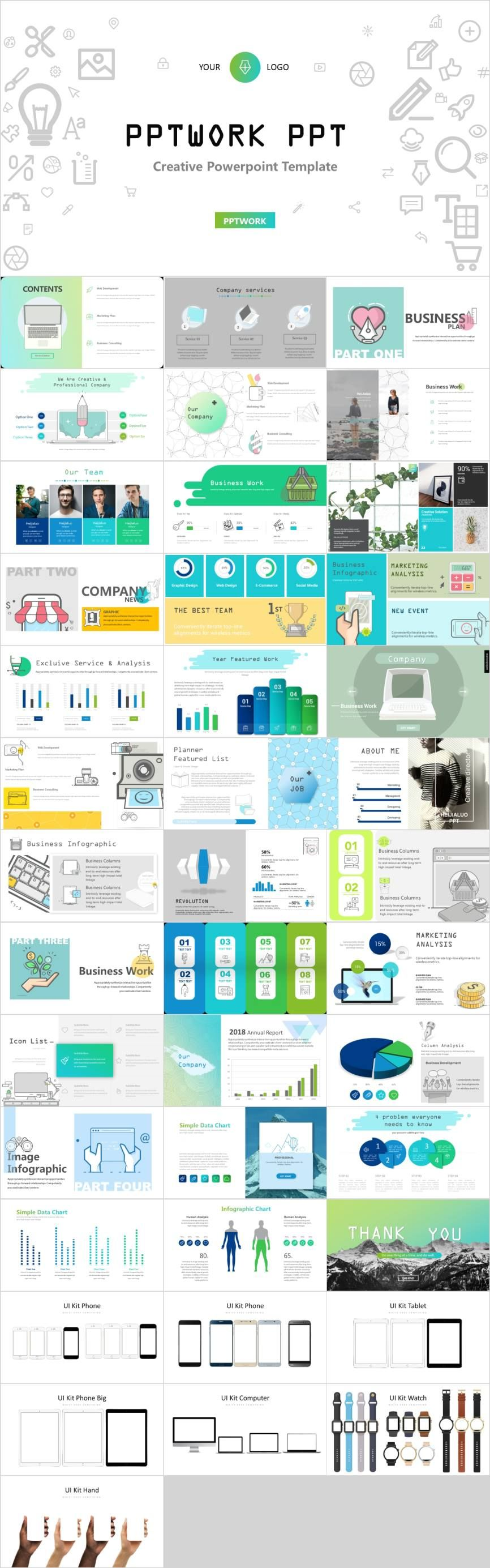 41 Creative business proposal PowerPoint template