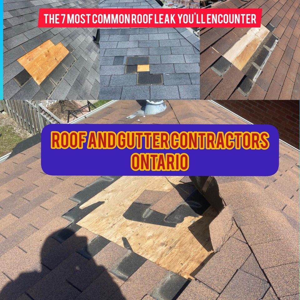 The 7 Most Common Roof Leak You Ll Encounter In 2020 Leaking Roof Roof Problems Roof Installation