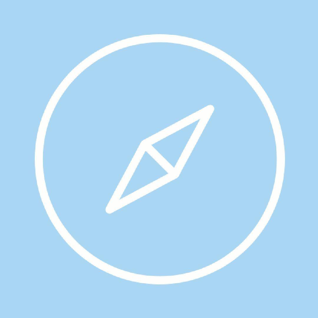 Blue App Icons Aesthetic Safari - Georgiananyc
