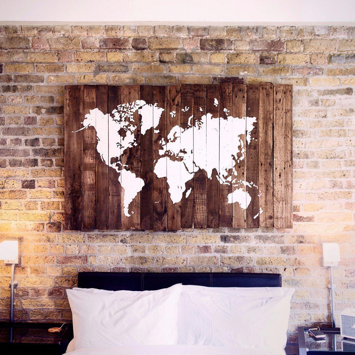 World Map - Wood Sign - Salter Creek Designs | Wood world ...
