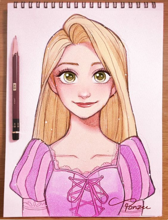 Rapunzel From Tangled Art Princesas Dibujos Rapunzel