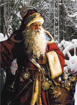 St Nicholas SANTA CLAUS Father Christmas I Love This One Great Looking Santa