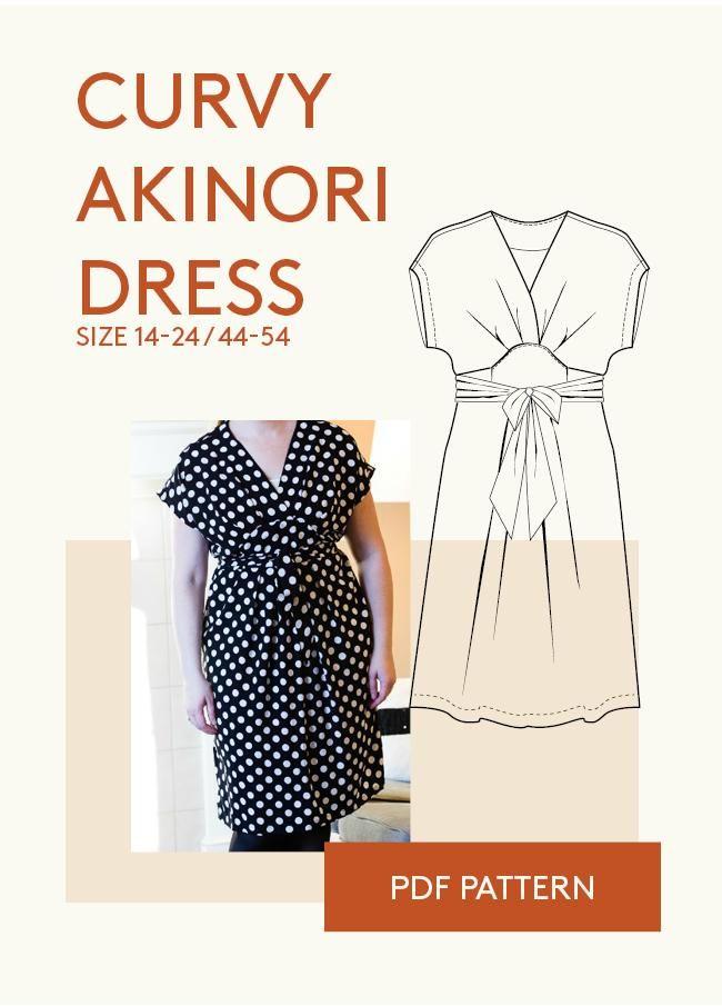 Akinori Kimono Dress | Pdf sewing patterns, Sewing patterns and ...