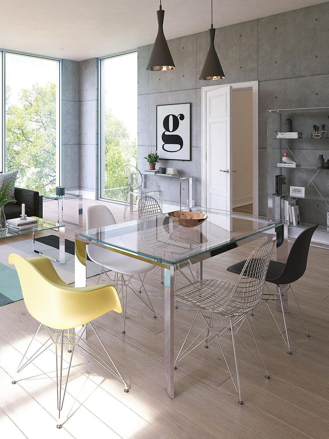 john lewis  partners tropez 6 seater glass top dining