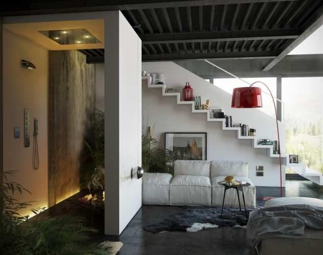 Paneele Badezimmer ~ Badezimmer sauna paneele aus erle und nussbaum mit glasfront