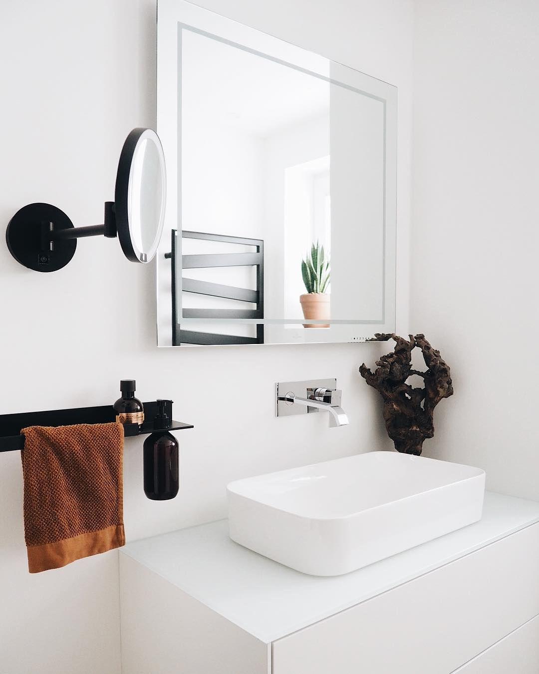 badezimmer #bathroom #alape #schwarz #weiß #whiteinterior ...