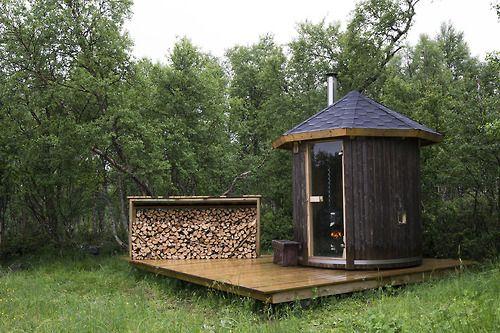 sauna via cabin porn via Tumblr