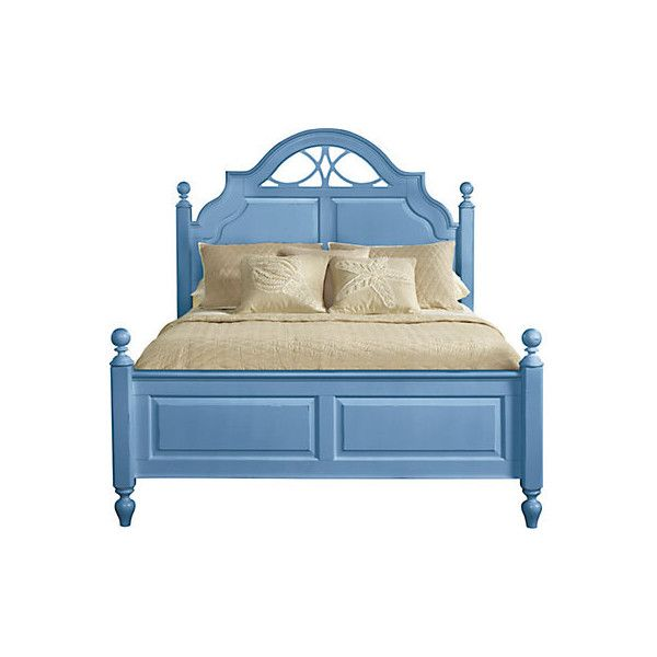 Cindy Crawford Home Seaside Blue Low Poster 3 Pc Queen Bed ($550) ❤ liked on Polyvore featuring home, furniture, beds, queen bed, low bed, seaside furniture, queen furniture and blue furniture