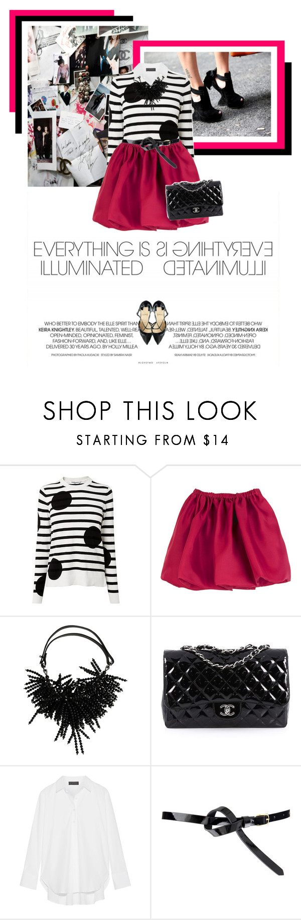 """Dots and Stripes"" by veronicamastalli ❤ liked on Polyvore featuring Chanel, Miu Miu, Brunello Cucinelli, Hatch and ASOS"