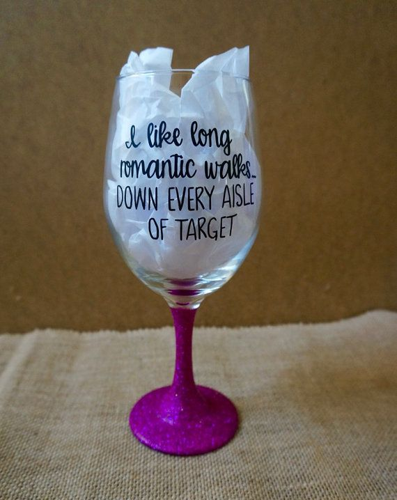 Large Wine Glass Funny Glasses Great Birthday Gifts Cricut Vinyl Teacher
