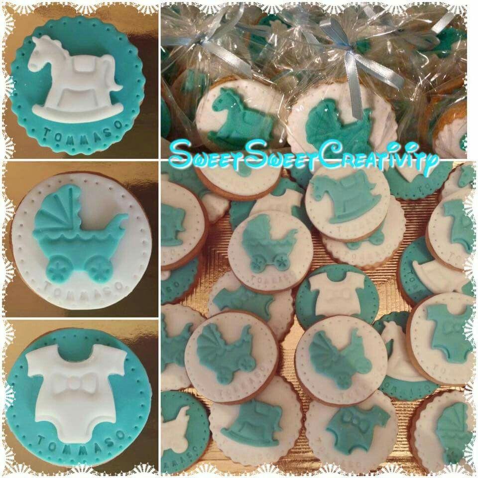 Famoso Biscotti decorati in pasta di zucchero per battesimo   Biscotti  TO94