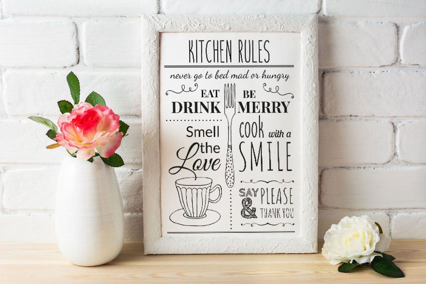 Kitchen Rules Printable instant download. Illustration, Kitchen Decor, KItchen Print, Kitchen Ink Art #kitchenrules