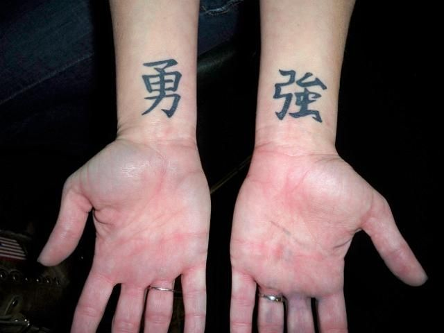 Strength Tattoo Ideas Chinese Symbols Representing Strength And