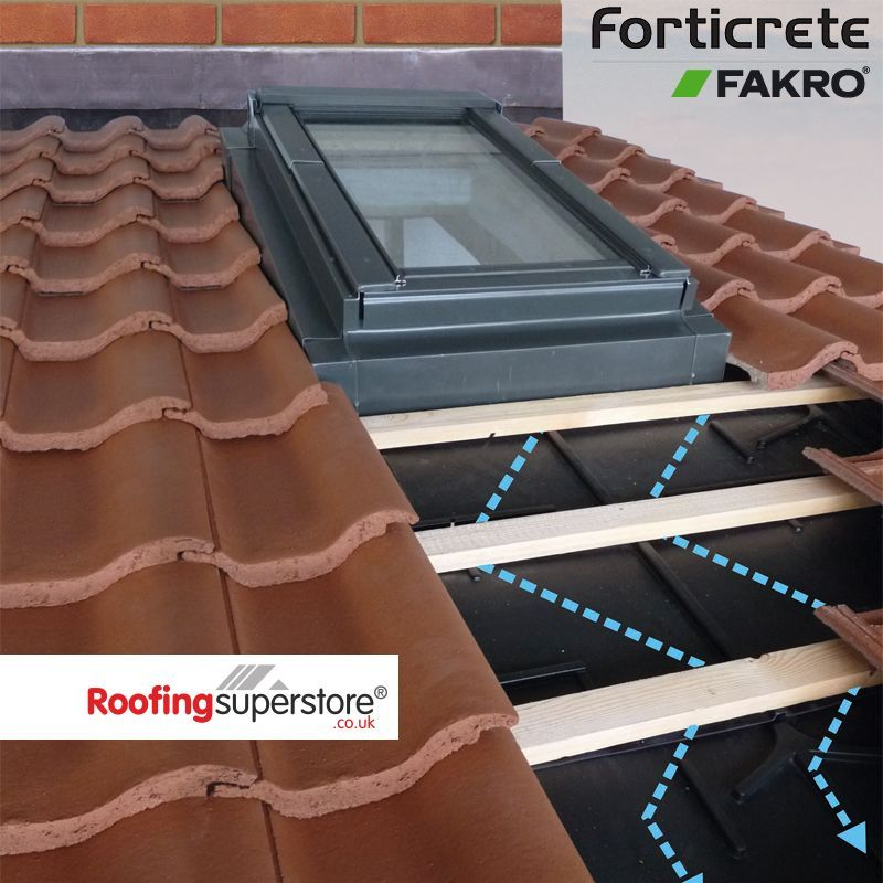 Fakro Low Pitch Roof Window System For Forticrete