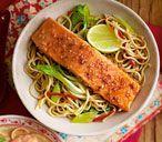Teriyaki salmon noodles #teriyakisalmon Teriyaki salmon noodles | Tesco Real Food #teriyakisalmon