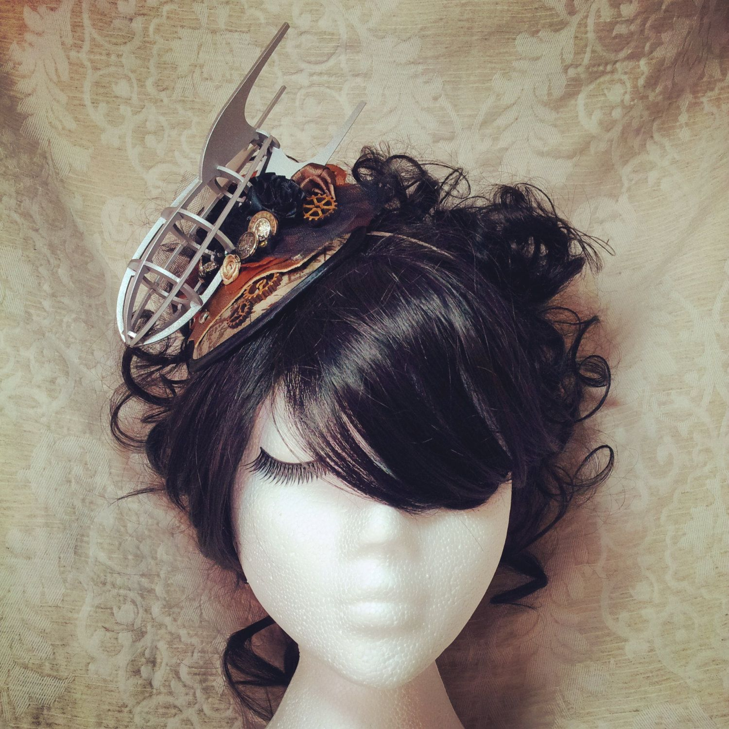 Steampunk Fascinator, Steampunk Headband, Steampunk Hat, Fascinator, Steampunk Wedding, Airship, Dirigible, Zeppelin, Pirate, Gothic Lolita by OohLaLaBoudoir on Etsy