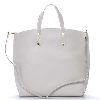 38e9842140 Světle šedá kožená kabelka do ruky - ItalY Sydney