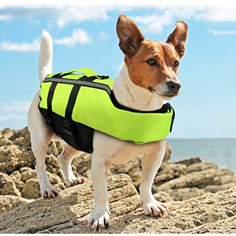 Namsan Dog Life Jacket Folding Dog Life Vest Portable Airbag Dog Swimming Jacket Vest Green Medium You Can Find Out M With Images Dog Swimming Dog Life Dog Life Vest