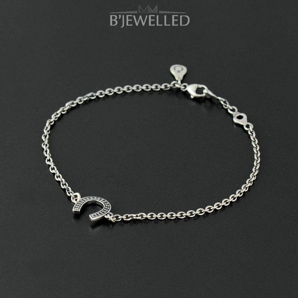 576094aa4 Authentic Pandora Silver Symbol of Luck Horseshoe Bracelet 18cm -  590507CZ-18